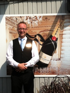 Frederic, the bellhop on the Rooftop Terrace Bar