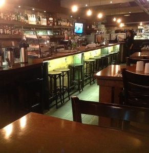 Bar of Gasper's Tavern features industrial and rustic details